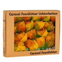 Feenlichter LED Lichterkette Rosen Groß 20L Orange Verpackung
