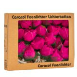 Feenlichter LED Lichterkette Rosen Groß 20L Pink Verpackung