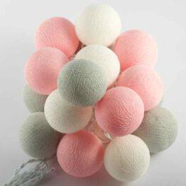 Baumwollball Feenlichter Lichterkette Bälle Marshmellow