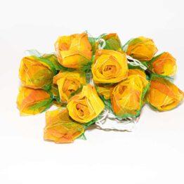 Feenlichter LED Lichterkette Rosen Groß 20L Orange
