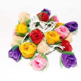 Feenlichter LED Lichterkette Rosen Groß 20L Rainbow