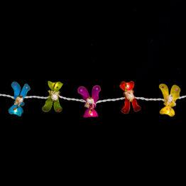 Feenlichter LED Lichterkette Engel Regenbogen Detail