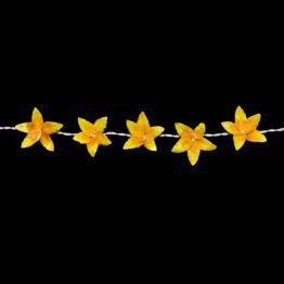 Feenlichter LED Lichterkette Lilien Gold Gelb Detail