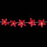 Feenlichter Lichterketten LED Lilien Rot 20L Detail