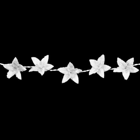 Feenlichter LED Lichterkette Lilien Weiß Detail