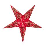 Sternenlicht Papierstern Aloe Vera Rot 5 Zackig