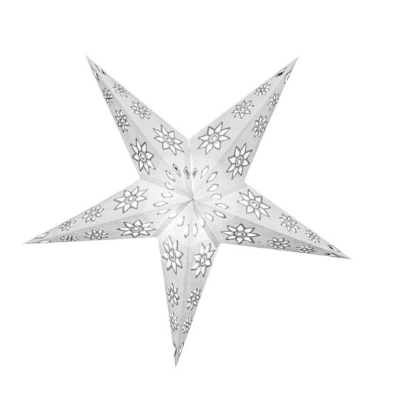 Sternenlicht Papierstern EdelWeiß 5 Zackig