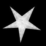 Sternenlicht Papierstern EdelWeiß 5 Zackig Nachts