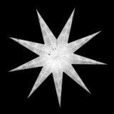 Sternenlicht Papierstern EdelWeiß 9 Zackig Nachts