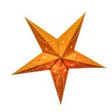 Sternenlicht Papierstern Venezia Orange 5 Zackig