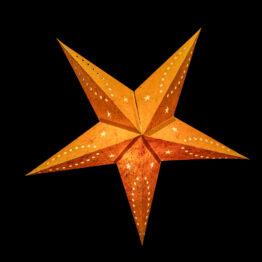 Sternenlicht Papierstern Venezia Orange 5 Zackig Nachts