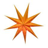 Sternenlicht Papierstern Venezia Orange 9 Zackig