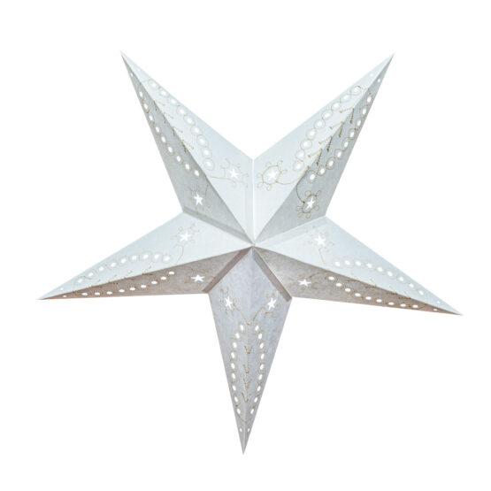 Sternenlicht Papierstern Venezia Weiss 5 Zackig