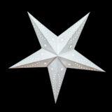Sternenlicht Papierstern Venezia Weiss 5 Zackig Nachts