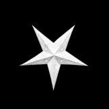 Sternenlicht Papierstern Venezia Weiss 5 Zackig Baby Nachts