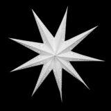 Sternenlicht Papierstern Venezia Weiss 9 Zackig Nachts