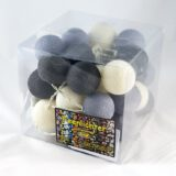 LED Lichterkette Feenlichter Cottonball Baumwollball Ashes Verpackung 35L