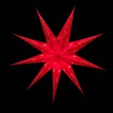 Sternenlicht Papierstern Venezia Rot 9 Zackig Nachts