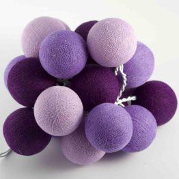 Baumwollball Feenlichter Lichterkette Bälle Lavender