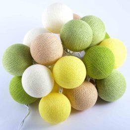Baumwollball Feenlichter Lichterkette Bälle Lemonade