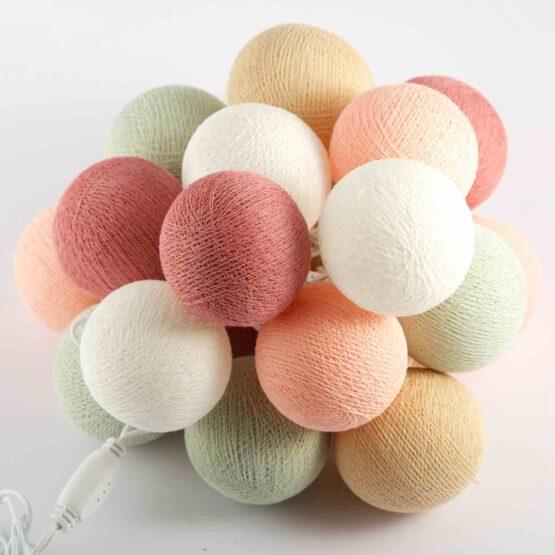 Baumwollball Feenlichter Lichterkette Bälle Spices