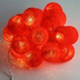 Baumwollball Feenlichter Lichterkette Bälle Glow Beleuchtet