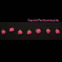 Feenlichter LED Lichterkette Rosen Groß Pink