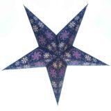 Sternenlicht Papierstern Cyclone Violett Glitter 5 Zack Baby