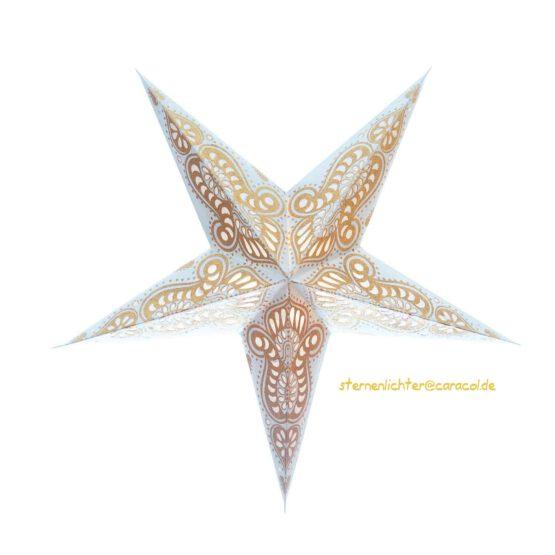 Sternenlicht Ganesh Weiss Gold Glitter 5 Zack Standard