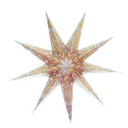 Sternenlicht Ganesh Weiss Gold Glitter 9 Zack