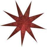 Sternenlicht Papierstern Layla Rot Glitter 9 Zack Standard