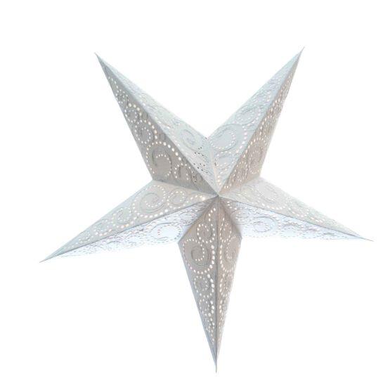 Sternenlicht Spirale bestickt Weiss 5 Zack