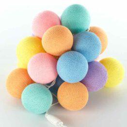 Feenlichter LED Cottonball / Baumwollball Lichterkette Gelato