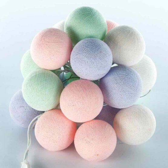 Baumwollball Feenlichter Lichterkette Bälle Baby Mint