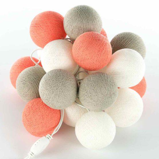Cottonball LED Lichterkette Flamingo