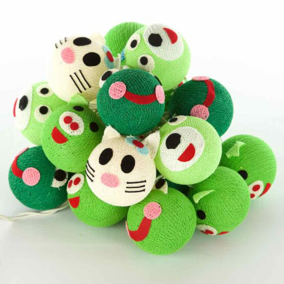 Baumwollball Feenlichter Lichterkette Bälle Frog & Friends