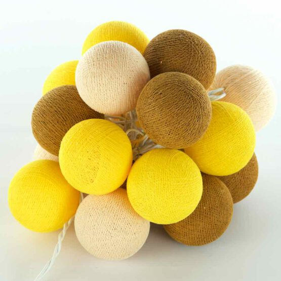 Baumwollball Feenlichter Lichterkette Bälle Gold
