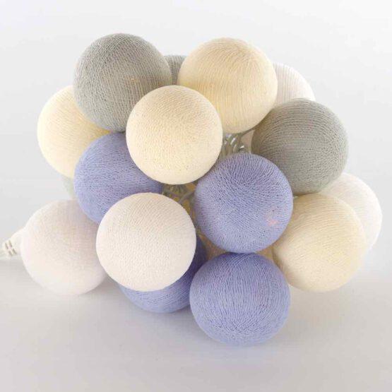 Baumwollball Feenlichter Lichterkette Bälle Provence