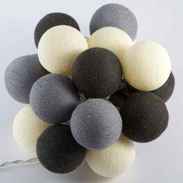 Baumwollball Feenlichter Lichterkette Bälle Ashes