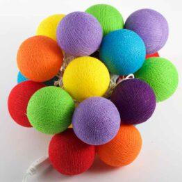 Baumwollball Feenlichter Lichterkette Bälle Rainbow