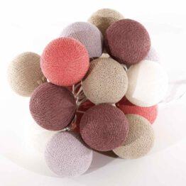 Baumwollball Cottonball LED Lichterkette Feenlichter Mangosteen