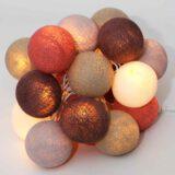 Baumwollball Cottonball LED Lichterkette Feenlichter Mangosteen beleuchtet
