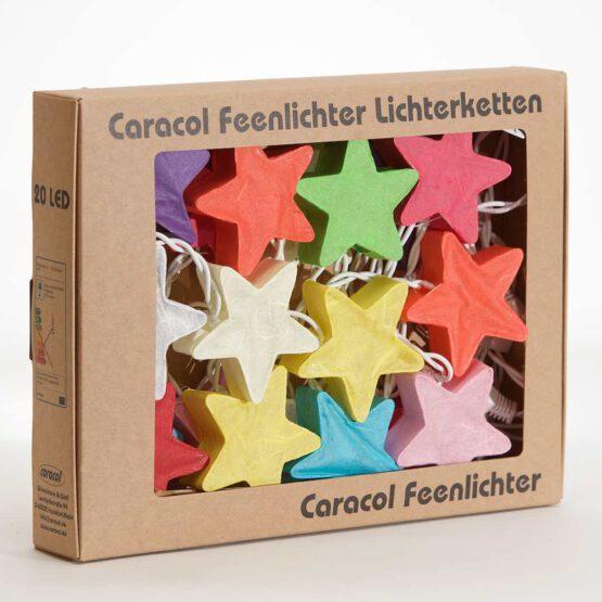 LED Lichterkette Feenlichter Sterne Rainbow Verpackung