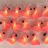 Feenlichter LED Lichterkette Flamingos beleuchtet
