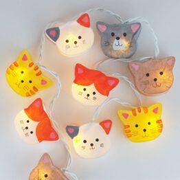 Feenlichter LED Lichterkette Strassenkatzen beleuchtet