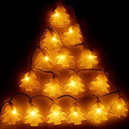 Feenlichter LED Lichterkette Weihnachtsbaum beleuchtet