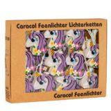 LED-Lichterkette Feenlichter Einhörner Flower-Power Lila Verpackung