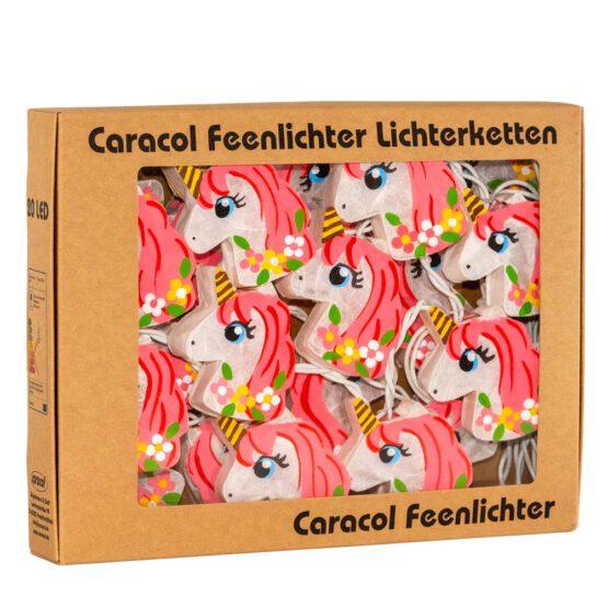LED-Lichterkette Feenlichter Einhörner Flower-Power Pink Verpackung