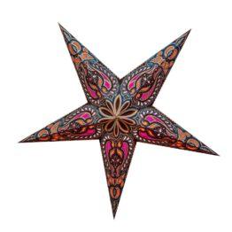 Sternenlicht Papierstern Alaska Braun Glitter 5 Zackig