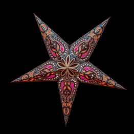 Sternenlicht Papierstern Alaska Braun Glitter 5 Zackig Nachts